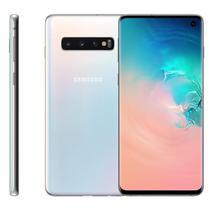 "Smartphone Samsung Galaxy S10, 6,1"", 128GB, Câmera Tripla 12MP + 16MP + 12MP, Branco -"