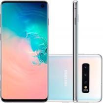 """Smartphone Samsung Galaxy S10 Branco 128GB Dual Chip Tela 6,1"""" OctaCore Câmera Traseira Tripla -"""