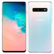 "Smartphone Samsung Galaxy S10, Dual Chip, Branco, Tela 6.1"", 4G+WiFi+NFC, Android 9.0, Câmera 12+16+12MP, 128GB -"