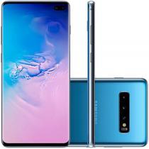 """Smartphone Samsung Galaxy S10 Plus Azul 128GB Dual Chip Tela 6,4"""" OctaCore Câmera Traseira Tripla -"""