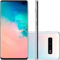 "Smartphone Samsung Galaxy S10 Plus Branco 128GB Dual Chip Tela 6,4"" OctaCore Câmera Traseira Tripla -"
