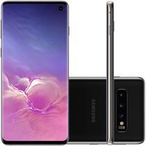 """Smartphone Samsung Galaxy S10 Preto 128GB Dual Chip Tela 6,1"""" OctaCore Câmera Traseira Tripla -"""