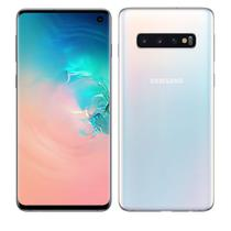 "Smartphone Samsung Galaxy S10 SM-G973 128GB 8GB 6,1"" 4G Câmera Tripla 12+12+16MP Dual Chip Branco -"
