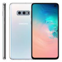 "Smartphone Samsung Galaxy S10E, 5,8"", 128GB, Câmera Dupla 12MP + 16MP, Branco -"