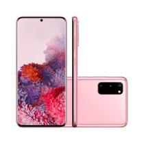 "Smartphone Samsung Galaxy S20 128GB 8GB RAM Câmera Tripla + Frontal 10MP Tela 6,2""- Rosa -"