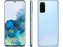 "Smartphone Samsung Galaxy S20 128GB Cloud Blue 4G - Octa-Core 8GB RAM 6,2"" Câm. Tripla + Selfie 10MP"