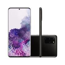 "Smartphone Samsung Galaxy S20+ 128GB Dual Chip Tela 6.7"" Octa-Core 8GB RAM Câmera Quádrupla Traseira 64MP+48MP+12MP+ToF - Cosmic Black -"