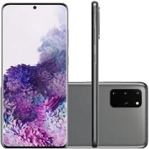 Smartphone Samsung Galaxy S20+ Cinza 128GB Câmera Quádrupla Traseira de 64MP+12MP+12MP+TOF SM-G985 -