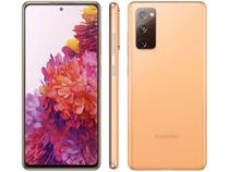 "Smartphone Samsung Galaxy S20 FE 128GB Cloud - Orange 6GB RAM Tela 6,5"" Câm. Tripla + Selfie 32MP"