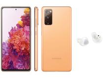 Smartphone Samsung Galaxy S20 FE 128GB Cloud - Orange + Fone de Ouvido Bluetooth Galaxy Buds+