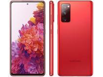 "Smartphone Samsung Galaxy S20 FE 128GB Cloud Red - 6GB RAM Tela 6,5"" Câm. Tripla + Selfie 32MP -"