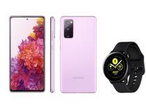Smartphone Samsung Galaxy S20 FE 256GB - Cloud Lavender + Smartwatch Galaxy Watch Active