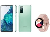 Smartphone Samsung Galaxy S20 FE 256GB - Cloud Mint + Smartwatch Galaxy Watch Active
