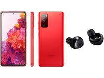 Smartphone Samsung Galaxy S20 FE 256GB Cloud Red - 8GB RAM + Fone de Ouvido Bluetooth Galaxy Buds+
