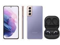 Smartphone Samsung Galaxy S21 128GB Violeta 5G - 8GB RAM + Fone de Ouvido Bluetooth Galaxy Buds Pro
