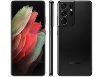 "Smartphone Samsung Galaxy S21 Ultra 256GB 5G - Preto, Câmera 108MP + Selfie 40MP, RAM 12GB, Tela 6.8"" -"