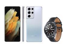 Smartphone Samsung Galaxy S21 Ultra 256GB Prata 5G - 12GB RAM + Smartwatch Galaxy Watch 3