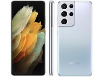 "Smartphone Samsung Galaxy S21 Ultra 256GB Prata 5G - 12GB RAM Tela 6,8"" Câm. Quádrupla + Selfie 40MP"