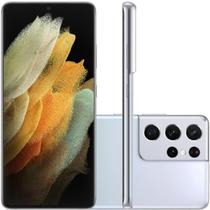 "Smartphone Samsung Galaxy S21 Ultra Tela Infinita de 6.7"" 256GB 12GB RAM Câmera Tripla Prata - Simiens"