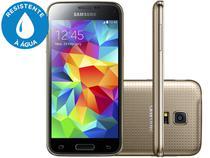 "Smartphone Samsung Galaxy S5 Mini Duos 16GB - Dual Chip 3G Câm. 8MP Tela 4.5"" Proc. Quad Core"