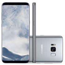 "Smartphone Samsung Galaxy S8+ 64GB Dual Chip 4G Tela 6,2"" Câmera 12MP Selfie 8MP Android 7.0 Prata -"