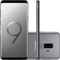 """Smartphone Samsung Galaxy S9+ 128GB 6GB OctaCore 2.8GHz 6.2"""" 12MP+12MP+8MP Frontal Android 8.0 Cinza -"""