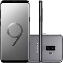 "Smartphone Samsung Galaxy S9 Plus CinzaTela Infinita de 6,2"" Câmera Dupla 12MP 128GB Octa-Core 6GB -"