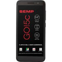 """Smartphone Semp Go 5C 5033E 16GB Dual Chip Androi Go 8,1 Tela 5"""" 4G WiFi Câmera 8MP Preto -"""