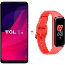 Smartphone TCL 10SE Azul Dual Tela 6.52'' 4g 128g + Samsung Galaxy Fit 2 Vermelho -