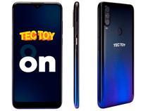Smartphone TecToy On 128GB Azul 4GB RAM Tela 6,22 - Câm. Tripla + Selfie 8MP + Fone Bluetooth