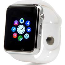 Smartwatch A1 Relógio Android, Notificações Whatsapp, Bluetooth, Camera - Branco - Smart watch