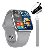 Smartwatch Hw16 44mm Relogio Compativel Android Ios 2021 +Pulseira Nylon+ Pelicula- Branco -