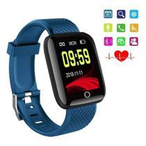 Smartwatch Relógio Inteligente Pulseira D13 Monitor Cardíaco Do Pulso Smartbracelet Azul - Lx