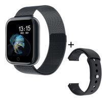 Smartwatch Relógio P80 Duas Pulseiras A Prova Dágua -