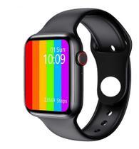 Smartwatch W26  Lite Preto Troca Pulseira Faz Ligação Tela Infinita -