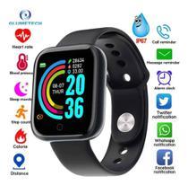 Smartwatch / Y68/ Bluetooth 4.0/ Monitor Cardíaco Preto -