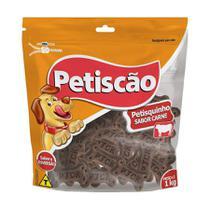 Snack Petisquito para Cães sabor Carne 1kg - Petiscão