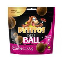 Snack Petitos para Cães Beef Ball sabor Carne - 60g -