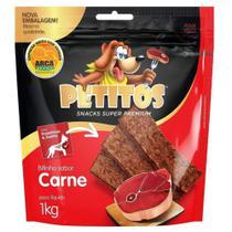 Snack Petitos Para Cães Bifinho Sabor Carne - 1kg -
