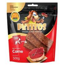 Snack Petitos Para Cães Bifinho Sabor Carne - 500g -