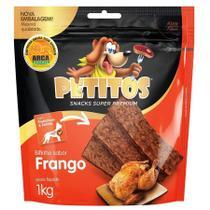 Snack Petitos Para Cães Bifinho Sabor Frango - 1kg -
