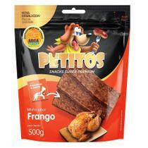 Snack Petitos Para Cães Bifinho Sabor Frango - 500g -