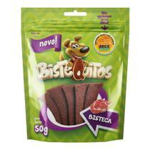 Snack Petitos Para Cães Bistequitos Sabor Bisteca - 50g -