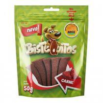 Snack Petitos Para Cães Bistequitos Sabor Carne - 50g -