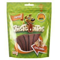 Snack Petitos Para Cães Bistequitos Sabor Galinha - 50g -