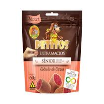 Snack Petitos para Cães Sênior Sabor Carne 60g -