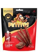 Snack Petitos Para Cães Sticks Sabor Carne - 500g -