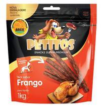 Snack Petitos Para Cães Sticks Sabor Frango - 1kg -