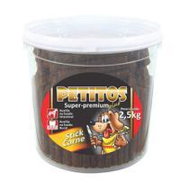 Snack Petitos Stick de Carne para Cães 2,5kg -