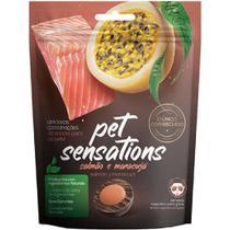 Snacks Petitos para Gatos Sensations Salmão e Maracujá 65g -